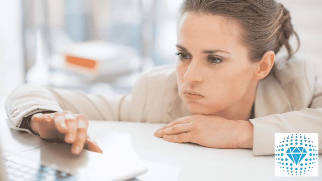 Corporate woman feeling dejected