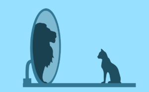 Boost confidence in ourselves by looking in the mirror